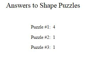 Answers to fig puzzles